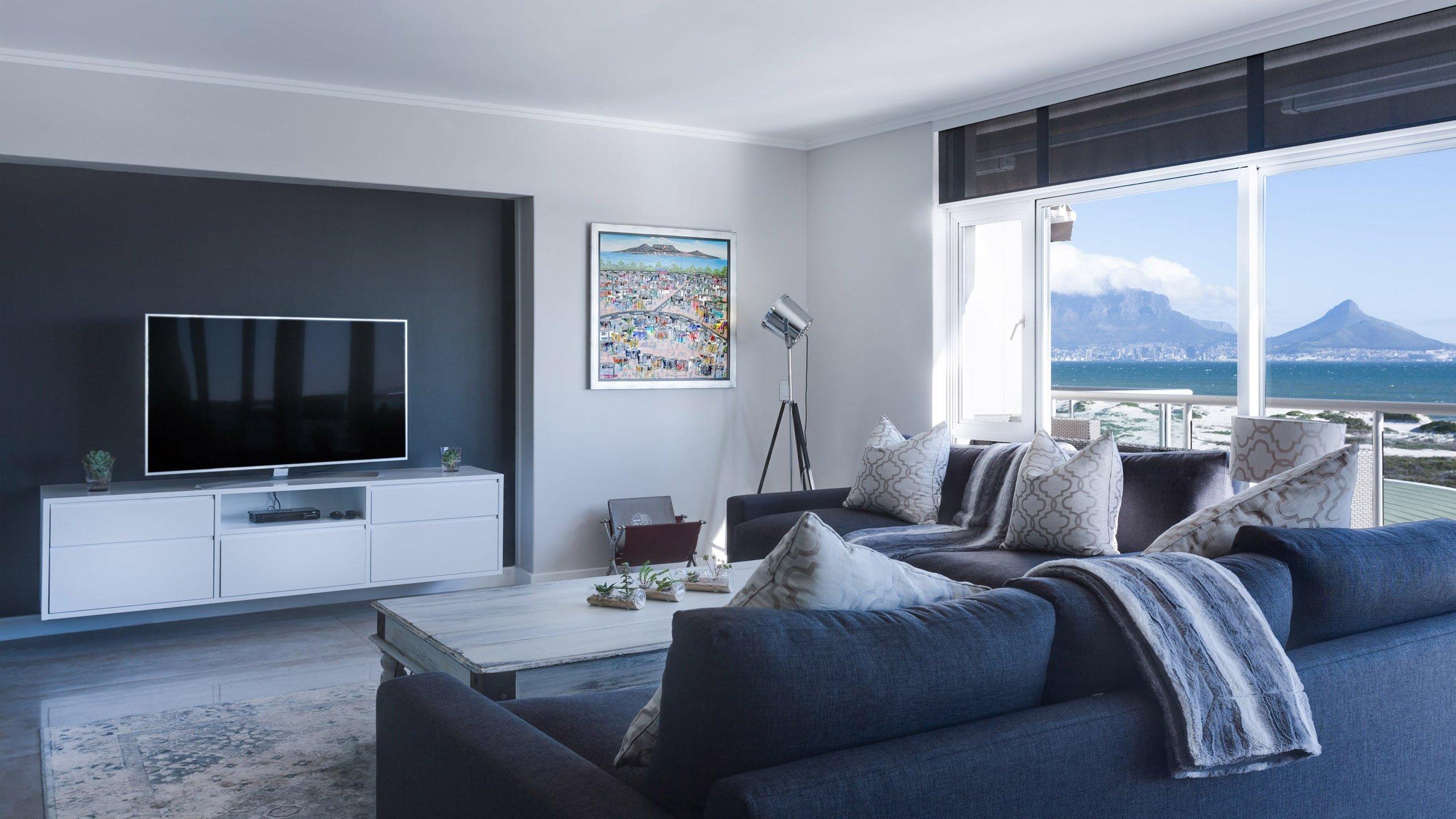 Interior of modern drawing-room 3D rendering