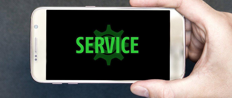 service grüne taste
